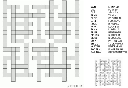 crossword puzzle  printable